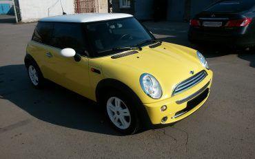 Авто, Mini Cooper, желтый цвет
