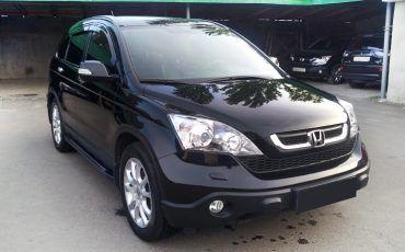 Авто, Honda CR-V, черный цвет