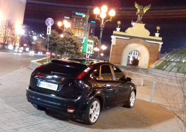 Черное авто, форд