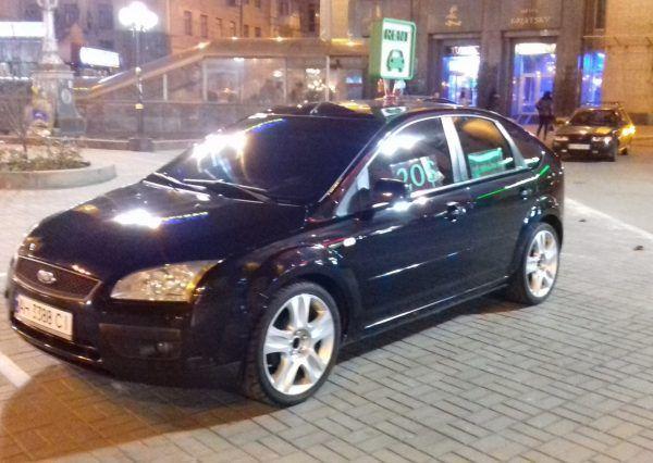Авто, Форд, черный, вид сбоку