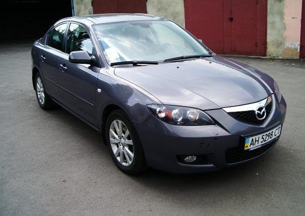 Авто Mazda, темно серый цвет
