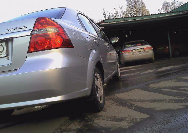 Автомобиль, Chevrolet Aveo, фара, вид сзади