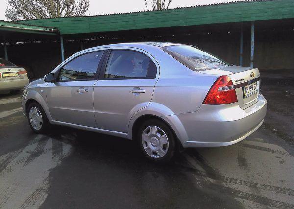 Машина, Chevrolet Aveo, вид сбоку