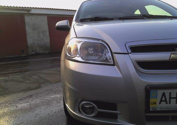 Автомобиль, Chevrolet Aveo, фара, бампер